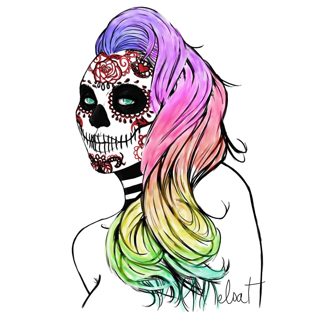 Sugar Skull Girl 2 By Kikata Chan On DeviantArt