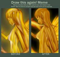 Draw This Again: Fire Nymph by Jymaru