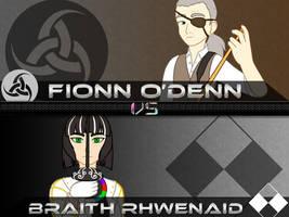 Backlog: OC VS: Fionn vs Braith by Jymaru