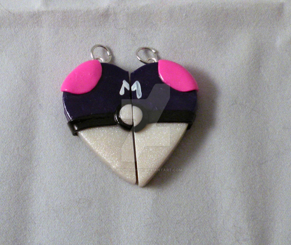 Master Ball Love at First Catch pendants by FuyunoHoshi