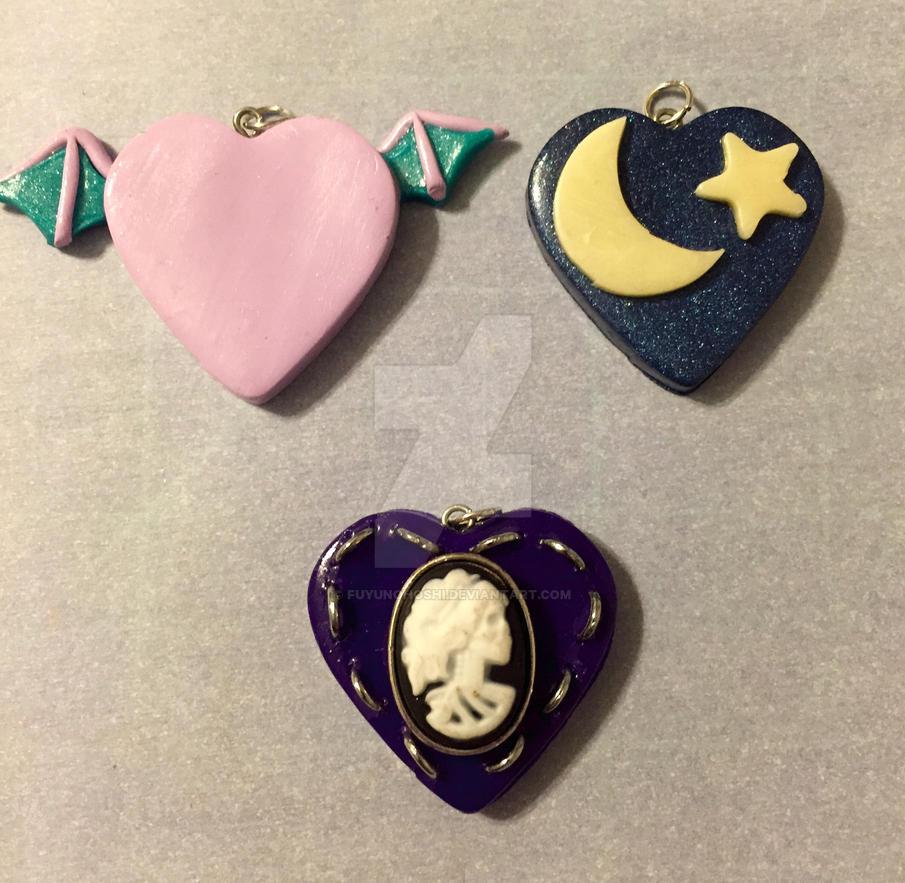 Clay Heart Pendants 06 by FuyunoHoshi