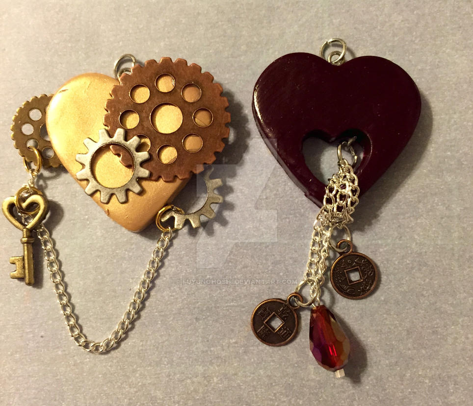 Clay Heart Pendants 08 by FuyunoHoshi