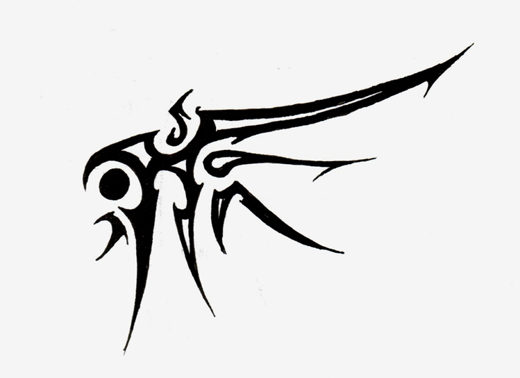 Tribal Wing tattoo by Logical-Primate on DeviantArt