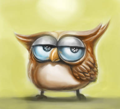 Owl Quick Sketch Painting