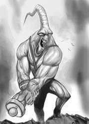 Earthworm Jim Sketch (WIP) by SketchMonster1