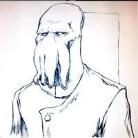 Zoidberg from Futurama (Sketch) by SketchMonster1