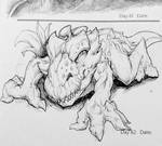Monster Movie Creature Sketch