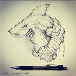 Street Shark Fighter - Sketch
