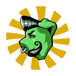 Pig Rocker Logo Design