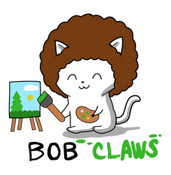 Bob Ross Kitty T-shirt Design