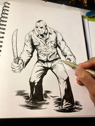 Jason Voorhees Inking