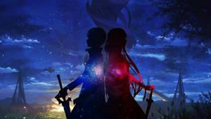 Kirito and Asuna Starry Night