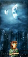 The Faithful Moon by karnjerrylow