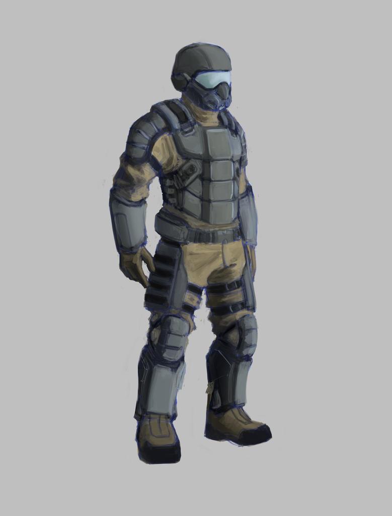 Tiberium Wars: GDI Infantryman by Ranfield