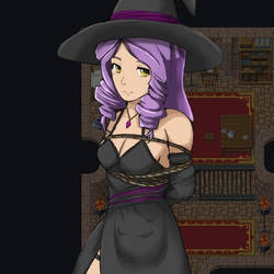 Evelyn in Witch outfit by Morizel