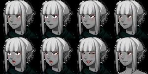 Drow Rogue Faceset (little teaser)