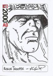 Rogue Trooper Sketch Card by Flip-R