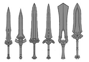 Fantasy Melee Weapon Sketches