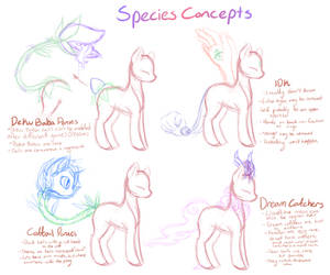 Pony Species Concepts {Part One} by S-Adopts