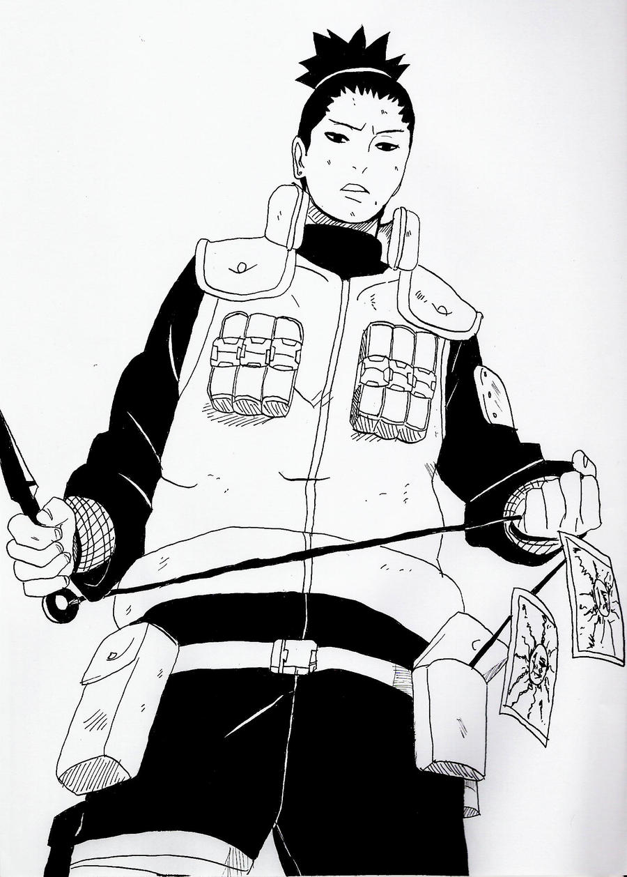 how to draw shikamaru nara
