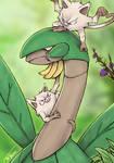 Tropius and the Mankeys - Pokemon