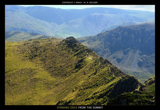 Striding Edge From The Summit