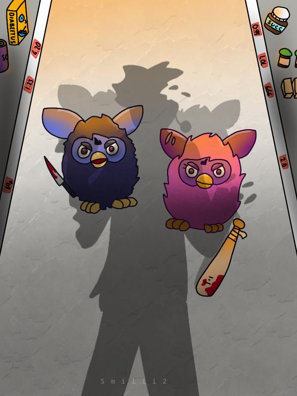 (mild blood tw) Furbies by Smileyme2