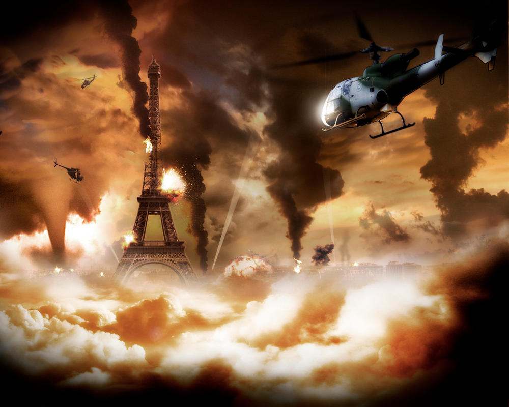 War in paris by Donass