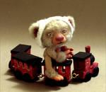 Mini bear and train toy