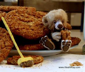 Janitor Bear art doll by aleahklay