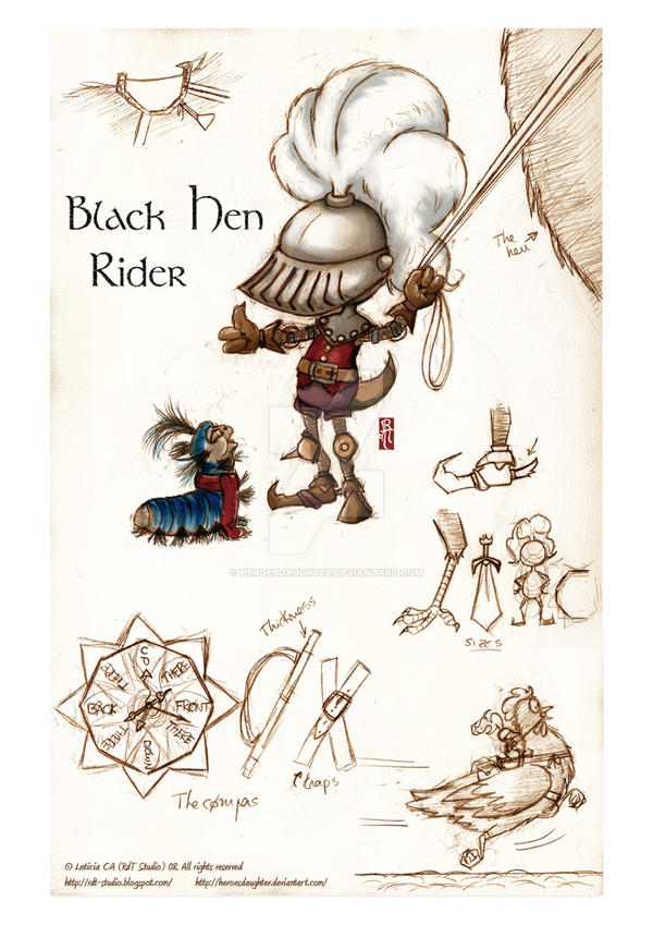 The Black Hen Rider By Heroesdaughter On Deviantart