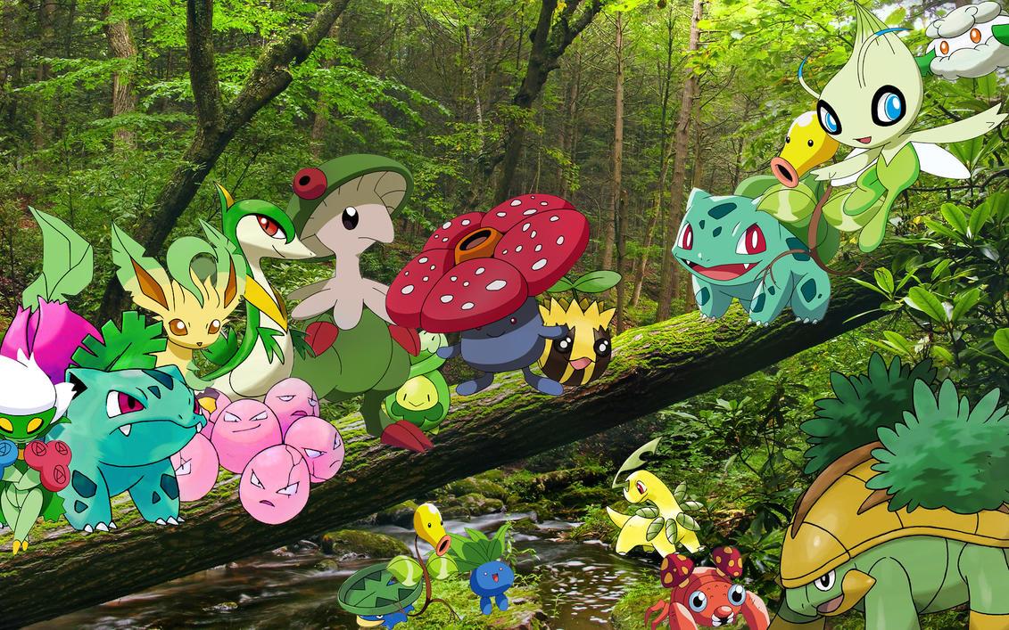 Grass_Pokemon_Wallpaper by Kyoshian on DeviantArt