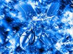 Blue Blue-Eyes Shining Dragon