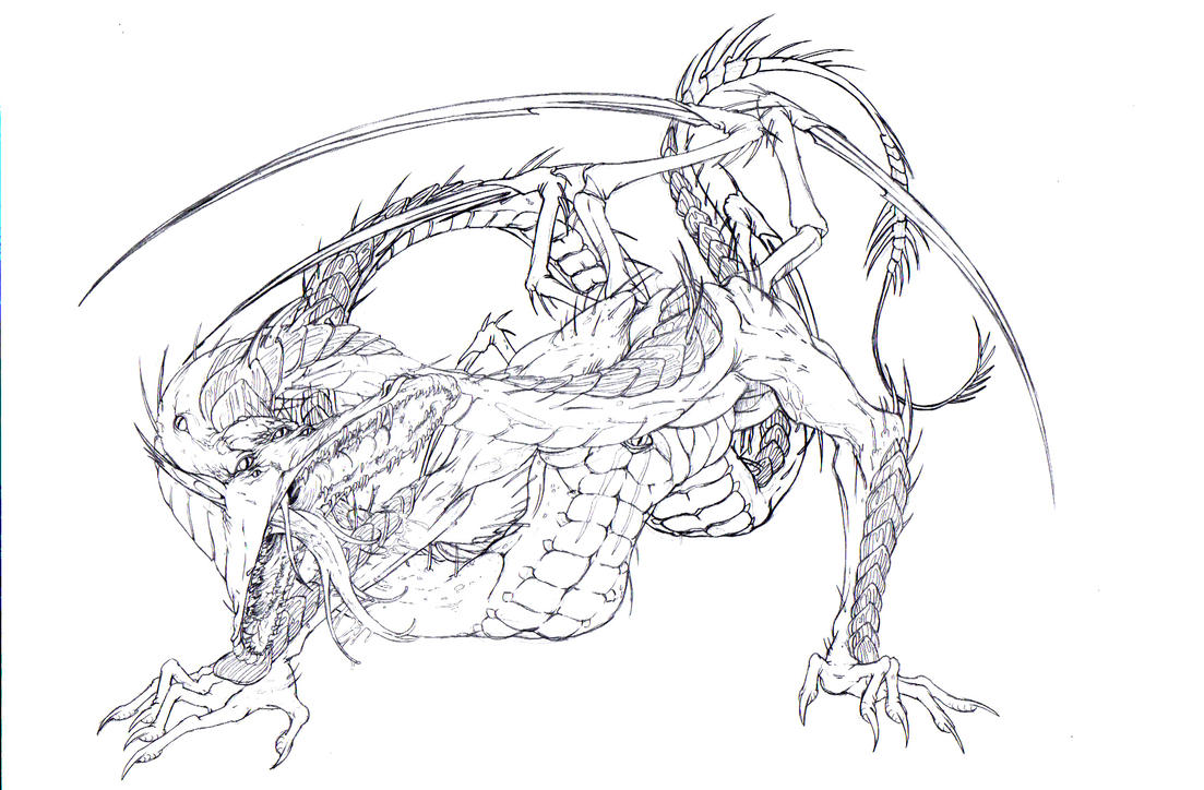 demon dragon coloring pages - photo#2