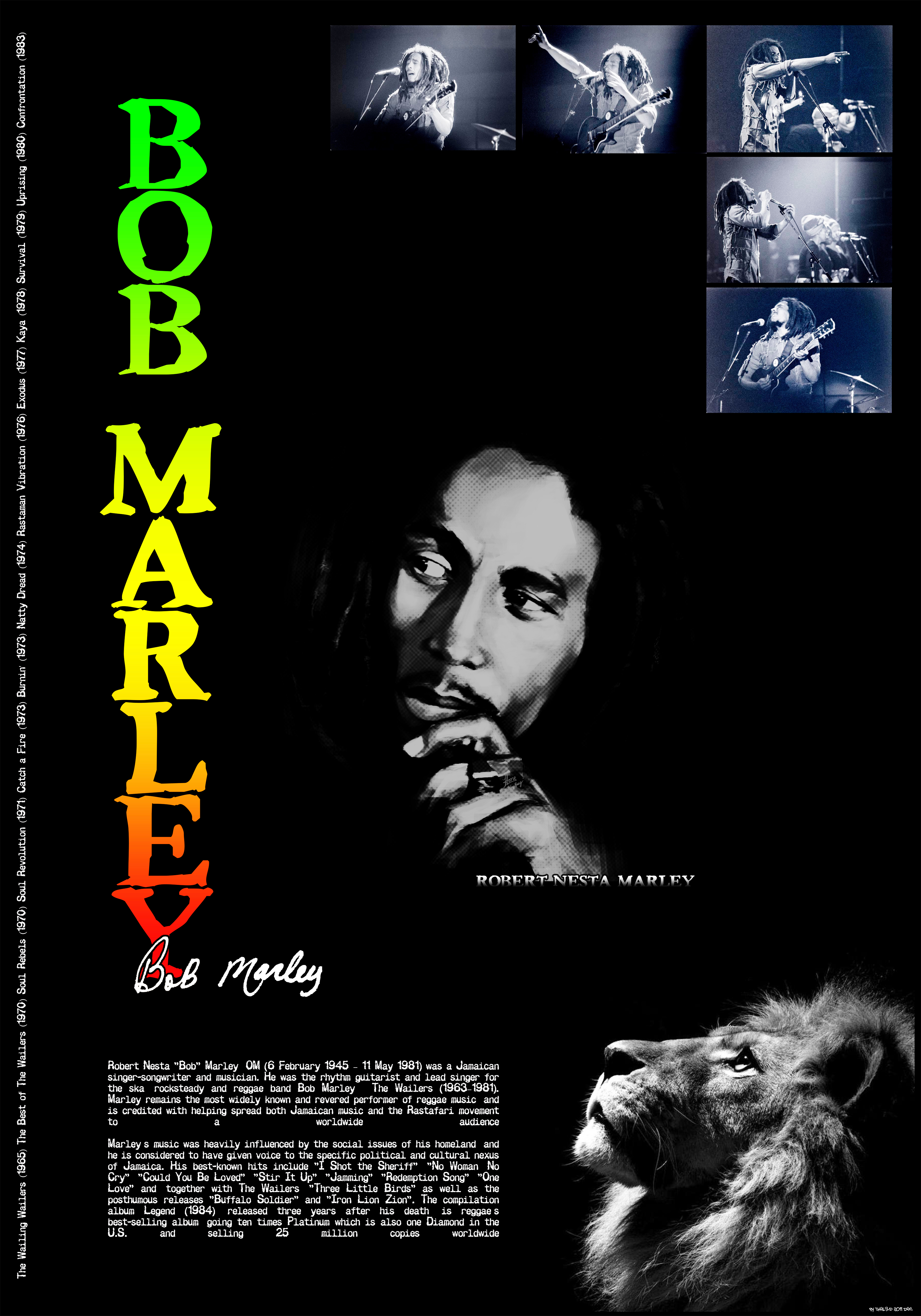 Bob Marley Poster 2011 By Foolstar