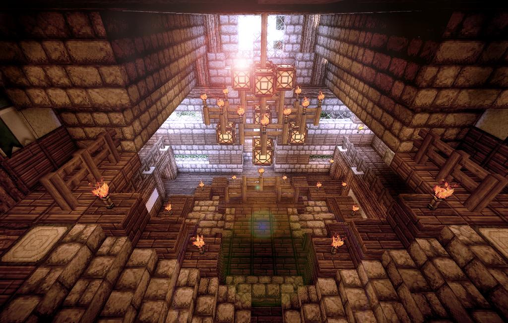 Minecraft Medieval Manor Interior Main Entrance By AzrealRou