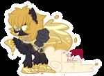 Ornate gold Waterfaller adopt (closed)