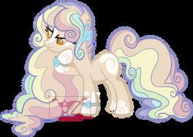 Fluffy Rainbow pony adopt (closed) by AzrealRou