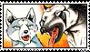 Jerome x Lydia stamp by GingaChani