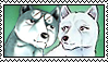 Gin x Sakura stamp by GingaChani