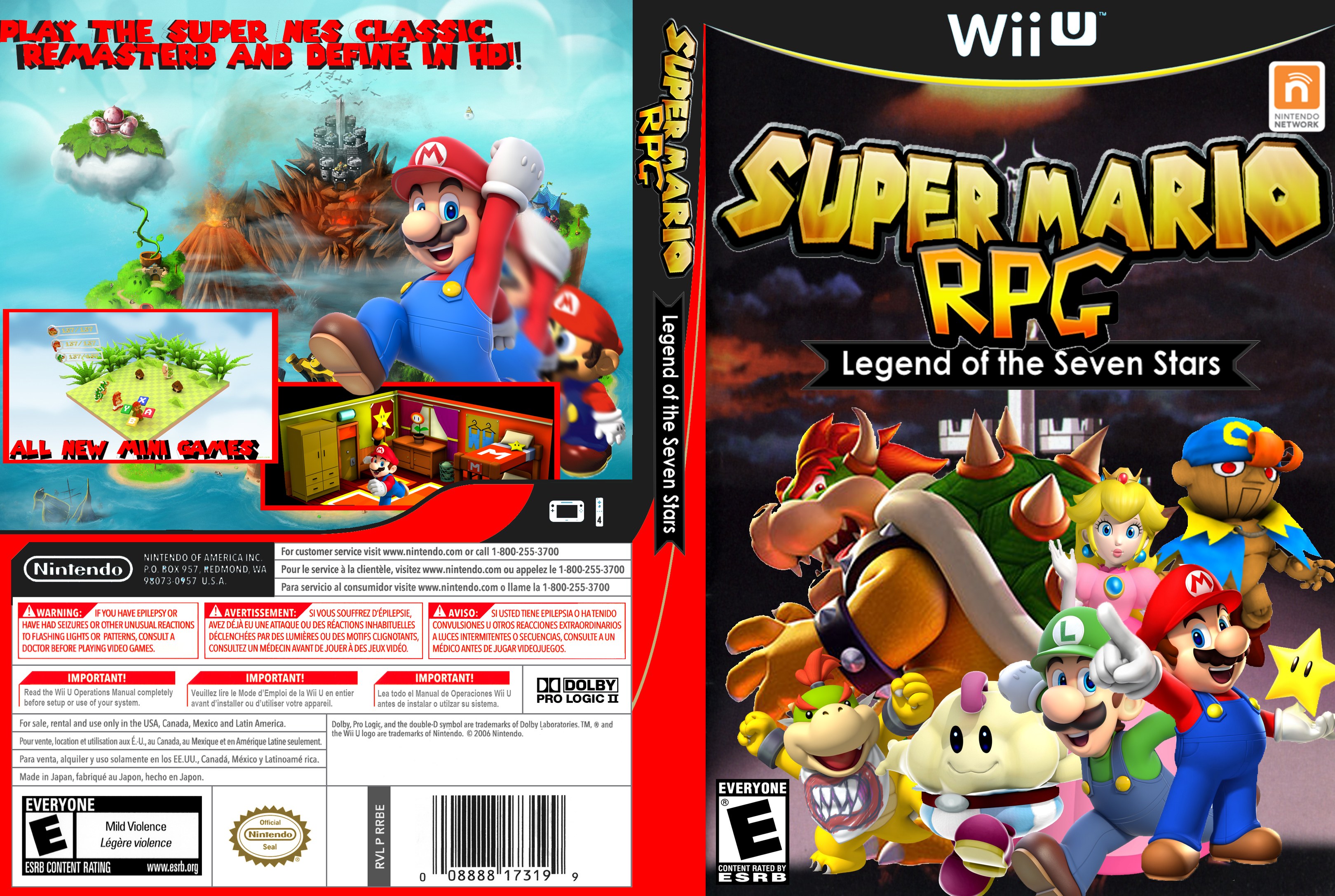Super Mario RPG Lengend of the seven stars wii u by