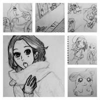 Hamtaro Lucky Star Sketchbook 2 by everydaydallas