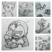 Doraemon Astro Boy Sketchbook 3 by everydaydallas