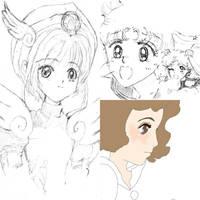 Sailor Moon Card Captor Sakura Sketchbook 4 by everydaydallas