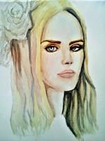 Lana Del Rey Watercolor by everydaydallas