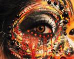 Abstract Tiger Eye by ninangame