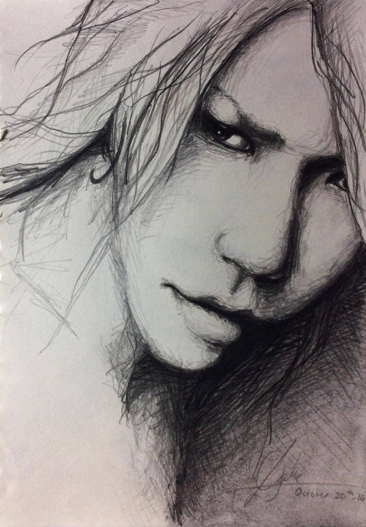 Aoi fanart (rough sketch) by DFrohlic