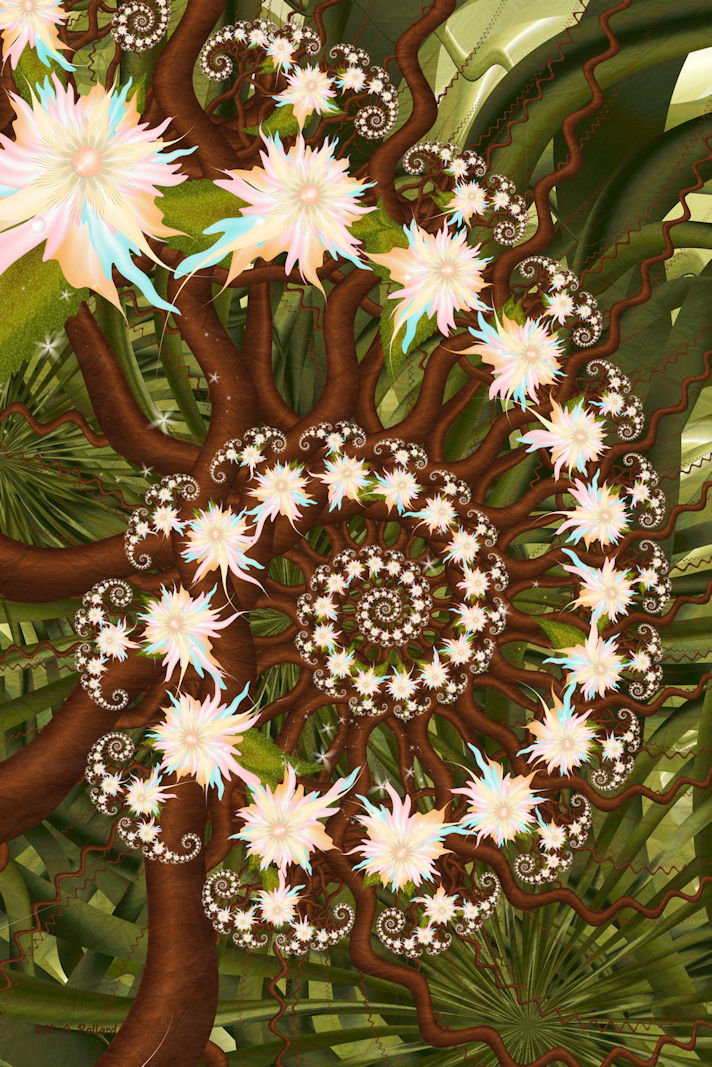 Deep Within The Rainforest...(Right Detail) by SiennaBlue