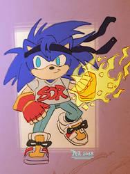 *Fan Art* - Sonic as Axel Stone - by PezAdriArts