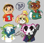 *Fan Art* - Animal Crossing sketches -. by PezAdriArts